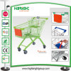 Zinc European Style 100L Supermarket Shopping Trolley