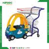 Nestable Supermarket Plastic Children Shopping Trolley Cart for Kids