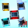 Roadway Safety Solution Solar LED Flashing Road Marker / Cat Eye