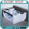 Glass Freestanding Hydro Massage Indoor Acrylic Whirlpool Massage Bathtub (506)