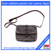 Small Waxed Canvas Purse with Crossbody Shoulder Strap