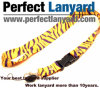 Zebra Printing Lanyard with Metal Hook