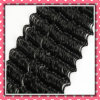 Hot Sale Black Color Brazilian Curly Human Hair Deep 16inches