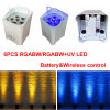 Cheap Price 5in1 Rgabw 6PCS LED Battery Wireless Wedding Decoration