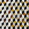 Yellow Lip Mop Shell and Freshwater Shell and Pen Shell Rhombus Mosaic