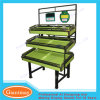 High Quality Supermarket Metal Flooring Fruit and Vegetable Display Rack