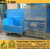 Warehouse Storage Wire Mesh Container for Warehouse Storage, Wire Mesh Pallet Basket Cage, Wire Mesh Bin with PP Sheet
