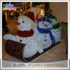 Outdoor 3D Motif Christmas Colorful Snowman LED Decoration Light