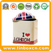 Small Mini Square Tea Tin Can for Metal Storage Box