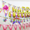 Popular Hanging Decoration Festival Flag Christmas Party Flags