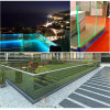 Balcony LED Railing / LED Balustrade Frameless Glass Aluminum U Channel