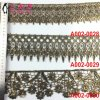 Polyester Edge Golden Beaded Lace