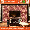 Damask Red Wall Paper with High Foaming