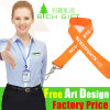 Promotion Custom Printing Single Face Nylon/Satin Lanyard for Gift