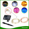 120LED Copper Silver Wire Solar String Light for Christmas Garden Decorate