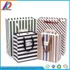 Printed Stripe Paper Christmas Gift Bag with Handle