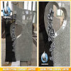 Wiscount White and Black Granite Headstone Heart Shaped