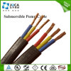 Flat Jacketed PVC Submersible Power Pump Cable with Ground