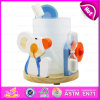 Wooden Toothbrush Holder with Hourglass for Kids, Cartoon Animals Toothbrush Holders Wholesale W02A094