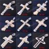 Simple Mens Metal Stainless Steel Cross Cross Black Cross Pendant Necklace Designs (IO-st000000)