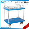 2 Tier Plastic Heavy Duty Cargo Push Utility Cart