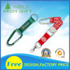 Promotional Polyester Online Parts Phone Lanyard with Carabiner Attachement