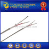 Fiberglass Braid Stainless Steel Shield K Type 2cores Thermocouple Wire