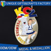 World Class 3D Medal with Red White Blue V-Neck Ribbon