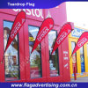 Color Fastness Custom Outdoor Polyester Teardrop Flag, Advertising Teardrop Banner