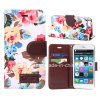 Fashion Flower Canvas and PU for iPhone 6 Case (KCI31-2)