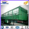 Hot Jushixin 3axle Stake Cargo Trailer with Side Wall