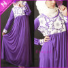 Newest Purple Evening Muslim Abaya Dress