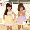 3 Year Old Girl Dress, Lapel Two Color Honey Dress