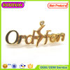Fashion Custom Metal Alloy Rhinestone Logo Jewelry Brooch with Pin