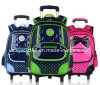 PU Children Trolley Wheeled Double Shoulder Students Backpack Bag (CY3521)
