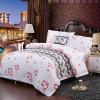 Printing White Satin Hotel Linen Bedding Set Duvet Cover Sets