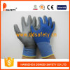 Ddsafety 2017 Blue Nylon and Polyester Liner Grey PU Gloves