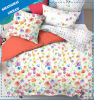 Cotton Polyester Flower Print Duvet Cover Set