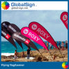 Outdoor Advertising Teardrop Shape Beach Banner