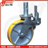 8 Inch Yellow PU with Cast Iron Scaffold Caster