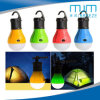 2018hot Sale 3LED Lamp Bulb Shape Colorful Camping Lantern with Battery