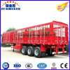 Tri-Axle 60tons Store House Bar Cattle Semi Trailer