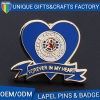 Customized Heart Shaped Metal Pin Badge with Colorful Soft Enamel