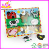 Wooden Children Educational 3D DIY Jigsaw Puzzle Kids Baby Toy Supplier (W14C033)