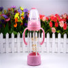 240ml Crystal Diamond Baby Glass Bottle with Bottom Set