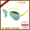 Fashionable Cheap Yellow Lady Sunglasses with Metal & Plastic Frame (China Wholesale Factory)