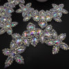 Heat Transfer Rhinestone Applique Crystal Diamante Trim for Wedding Sash