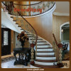 Bronze Color Villa Curved Casting Aluminum Stair Railing (SJ-B033)