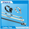 304 316 Stainless Steel Epoxy/Nylon Coated Cable Tie-Releasable Type