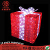 Lighted up Red LED 3D Acrylic Gift Box Motif Light for Hotel Decoration